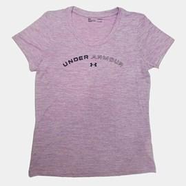 Camiseta de Treino Feminina Tech Twist Graphic Under Armour Lilás