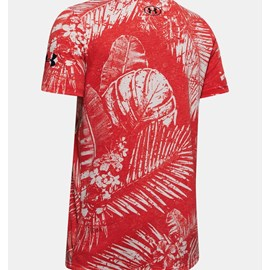 Camiseta de Treino Masculina Project Rock Aloha Camo SS Under Armour