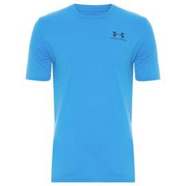 Camiseta de Treino Masculina Under Armour Left Chest Azul Claro