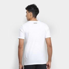 Camiseta de Treino Masculina Under Armour Left Chest Branca