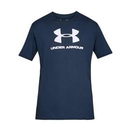 Camiseta de Treino Masculina Under Armour Sportstyle Logo Azul