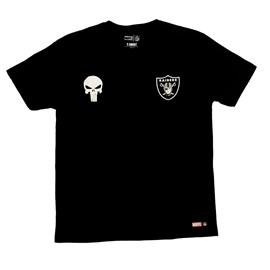 Camiseta Marvel NFL Logo - Las Vegas Raiders Justiceiro