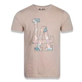 Camiseta MLB Feminina Los Angeles Dodgers Botany Mask - New Era