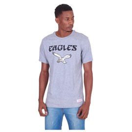 Camiseta NFL Philadelphia Eagles Cinza - Mitchell & Ness