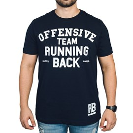 Camiseta Running Back Mark Company - Azul Marinho