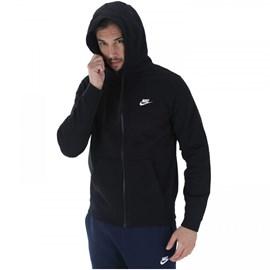 Moleton Club Hoodie Nike FZ - Preto