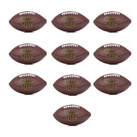 Pack com 10 Bolas Wilson NFL Super Grip Oficial