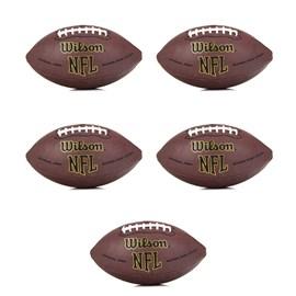 Pack com 5 Bolas Wilson NFL Super Grip Oficial